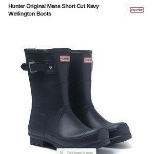 Hunters Navy Size 9 Rainboots
